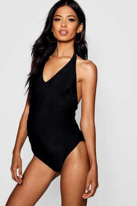 boohoo Maternity Plunge Front Swimsuit