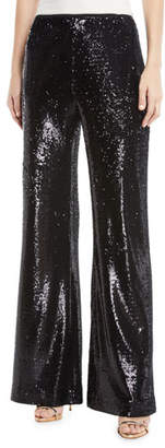 Nanette Lepore Pasha Sequin Flared-Leg Pants
