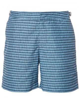 Orlebar Brown geometric print swim shorts $275 thestylecure.com