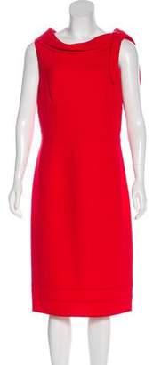 Carmen Marc Valvo Wool Sleeveless Midi Dress
