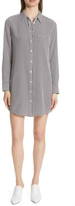 Equipment Brett Stripe Silk Shirtdress