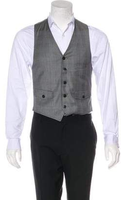Band Of Outsiders Plaid Wool Vest