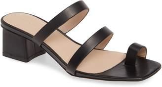 Something Navy Carly Block Heel Sandal
