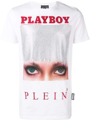 Philipp Plein X Playboy printed crystal T-shirt
