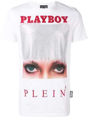 Philipp Plein x Playboy printed crystal T-shirt