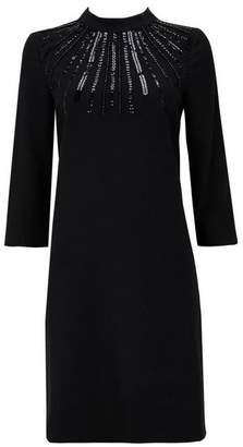 Wallis Black Embellished Shift Dress