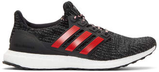 adidas Black and Red Ren Zhe Edition UltraBoost Sneakers