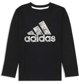 adidas Boys' Printed-Logo Tee - Little Kid
