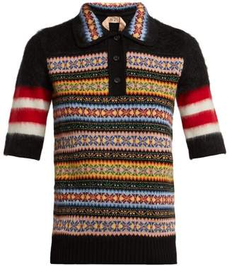 No.21 No. 21 - Patterned Wool Blend Polo Shirt - Womens - Multi