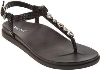 Vionic Embellished T-Strap Sandals - Boca