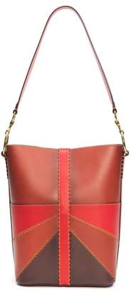 Frye Ilana Colorblock Leather Bucket Hobo
