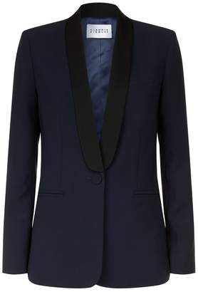 Claudie Pierlot Satin Lapel Blazer