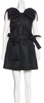 Simone Rocha Embellished Neoprene Dress