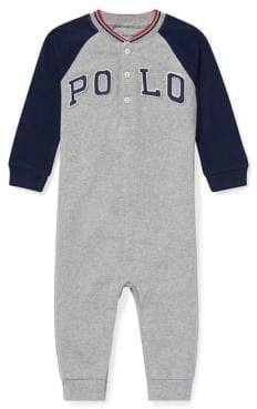 Ralph Lauren Childrenswear Baby Boy's Cotton Mesh Henley Coveralls