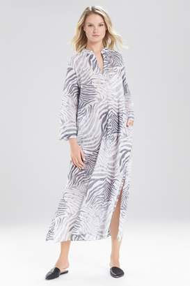 Natori Printed Cotton Voile Lounger