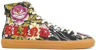 Gucci floral jacquard hi-top sneakers