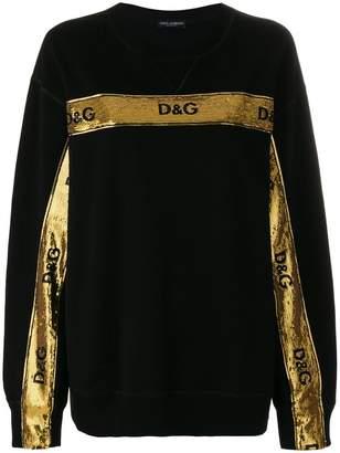 Dolce & Gabbana sequinned logo banner sweatshirt
