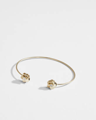 Ted Baker PHEDRA Polished flower fine cuff