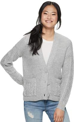 Almost Famous Juniors' Button-Front Cardigan
