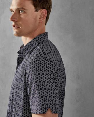 Ted Baker ENYONE Short sleeved cotton hexagon shirt