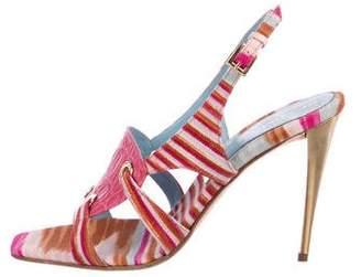 Missoni Multicolor Ankle Strap Sandals
