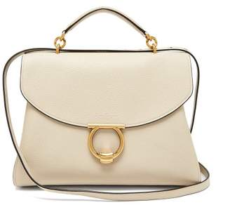 COM · Salvatore Ferragamo Margot Grained Leather Shoulder Bag - Womens -  Beige ea10ed4c95