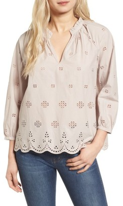 Women's Madewell Eyelet Blouse $98 thestylecure.com