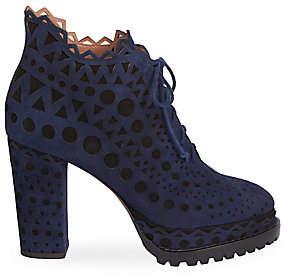 Alaia Women's Lasercut Suede Ankle Boots