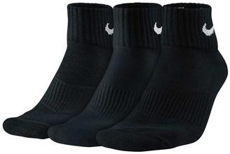 Nike Cotton Quarter 3 Pack Socks