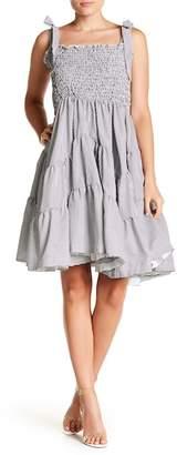 Gracia Smoking Stripe Smocked Dress