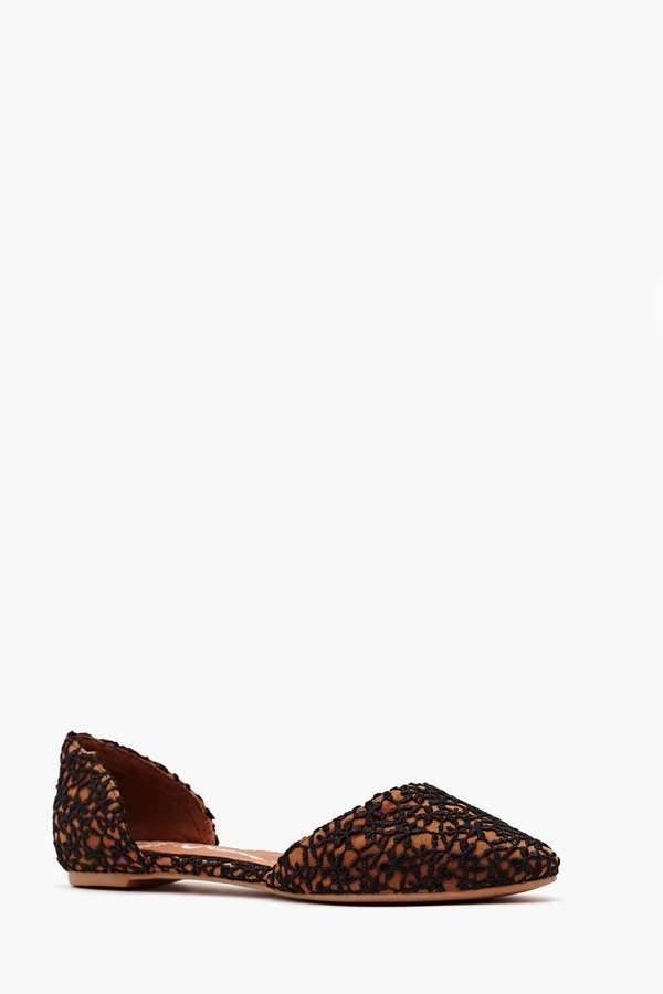 Nasty Gal Jeffrey Campbell In Love Flat - Lace