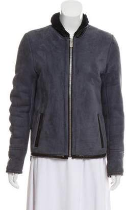 Balenciaga Shearling Zip-Up Jacket