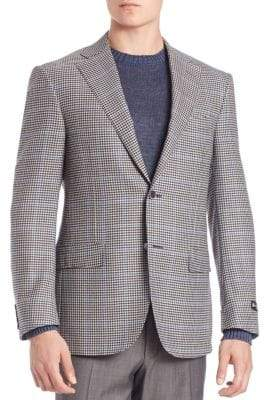 Corneliani Two-Button Checked Blazer