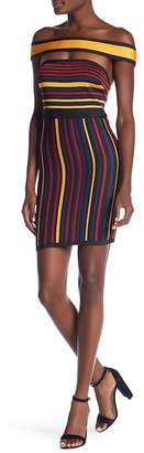 Wow Couture Striped Choker Dress