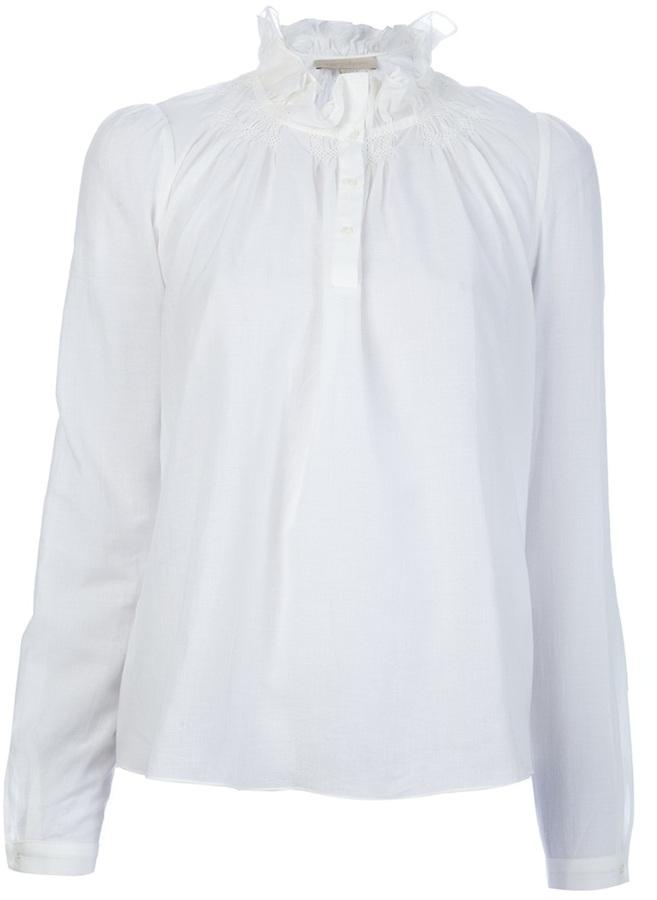 Vanessa Bruno ruffle collar blouse