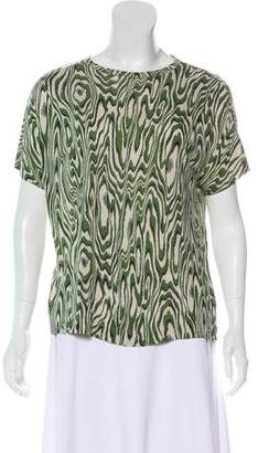 Dries Van Noten Printed Short Sleeve Top