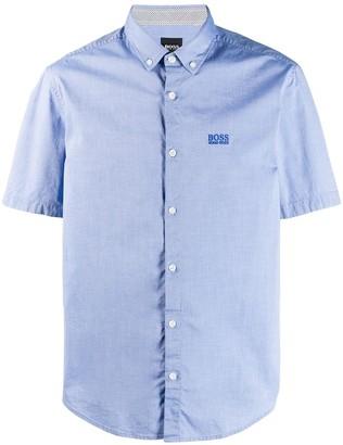 HUGO BOSS logo embroidered shirt