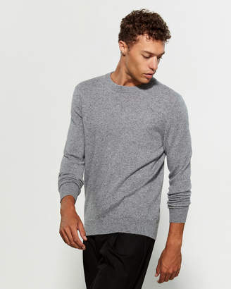 Qi Donegal Crew Neck Long Sleeve Cashmere Sweater