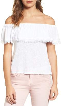 Splendid Off-the-Shoulder Ruffle Top