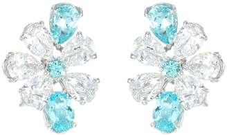 Lc Collection Jewellery 'Forget-me-not' diamond paraiba platinum earrings
