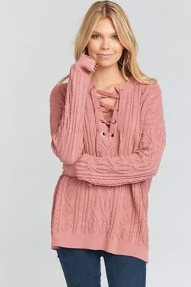 Show Me Your Mumu Lance Lace-Up Sweater