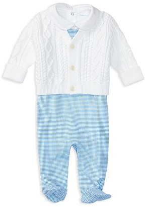 Ralph Lauren Childrenswear Infant Boys' Cardigan, Bodysuit & Overalls Set - Baby $95 thestylecure.com