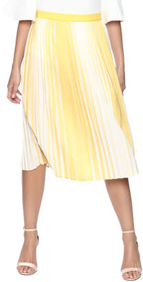Lily White Yellow Striped Skirt