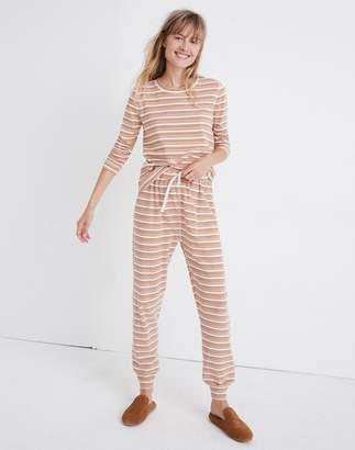 Madewell Honeycomb Pajama Sweatpants in Kasson Stripe