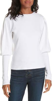 Veronica Beard Lyon Puff Sleeve Top