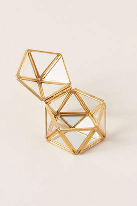 Anthropologie Glass Geodome Ring Box