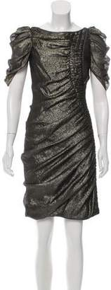 J. Mendel Metallic Mini Dress