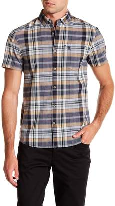 Original Penguin Short Sleeve Nep End On End Print Slim Fit Shirt