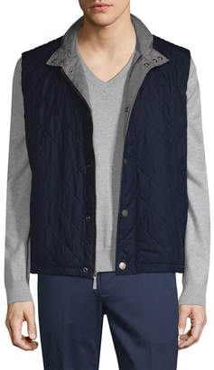 Brooks Brothers Collar Quilted Vest