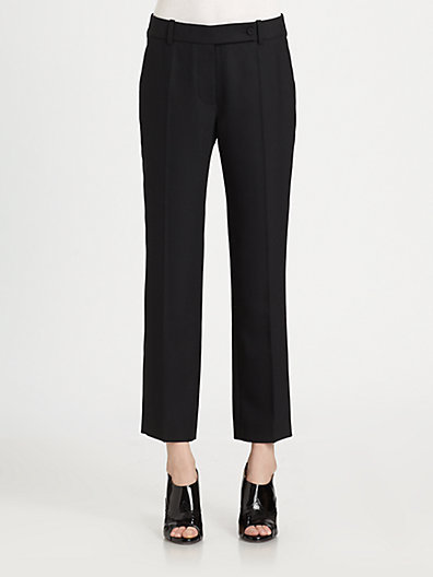 Carven Stretch-Wool Cropped Tuxedo Pants